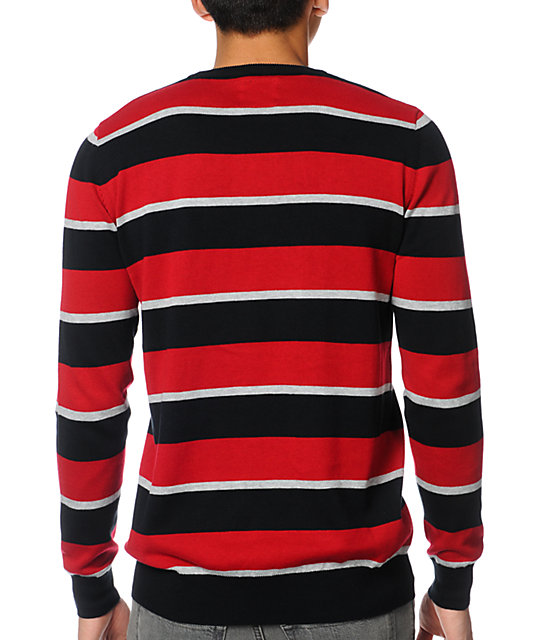 Empyre Montage Red Striped Sweater