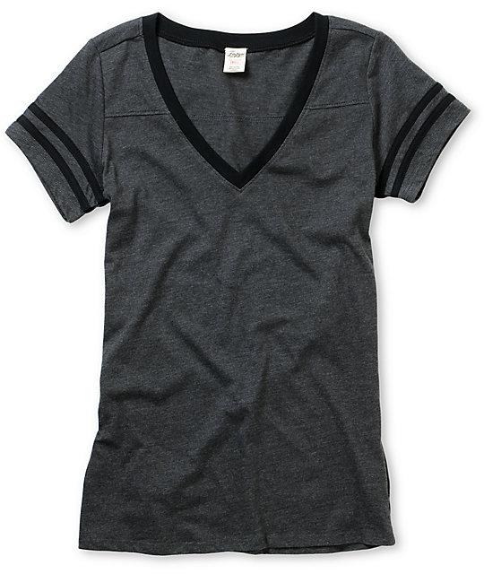Empyre Morel Charcoal & Black Football T-Shirt