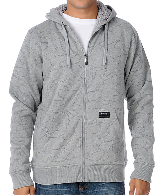 Empyre Motile Grey Sherpa Fleece Hoodie