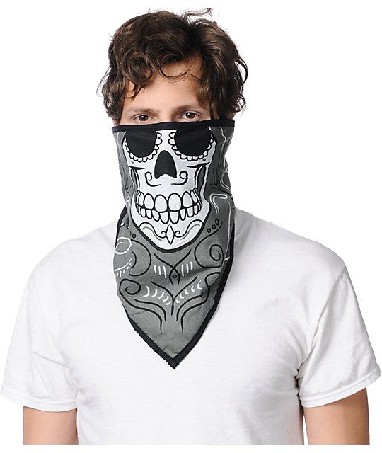 Empyre Muertos Grey Face Mask Bandana
