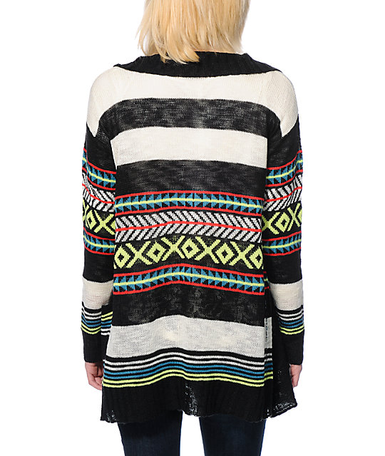 Empyre Multicolor Stripe Wrap Sweater