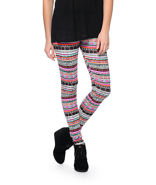 Empyre Neon Tribal Print Leggings