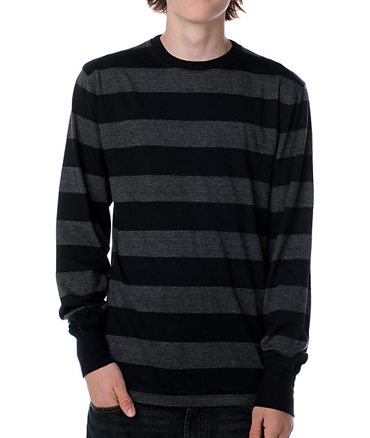 Empyre Newbie Black & Grey Long Sleeve T-Shirt
