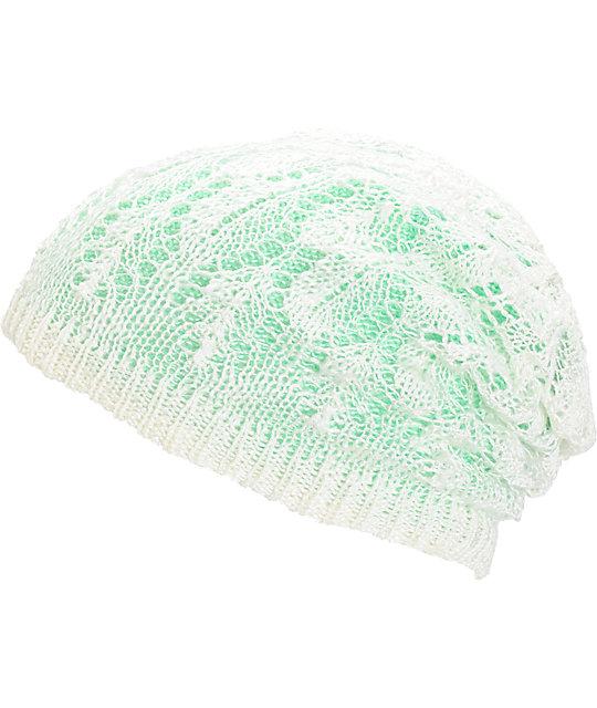 Empyre Noble Mint Crochet Reversible Beanie