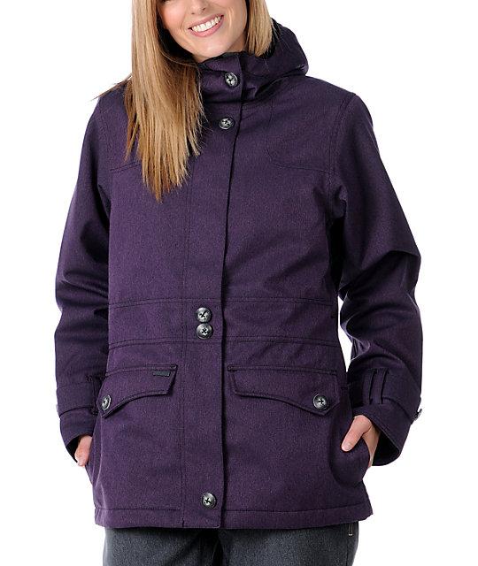 Empyre Nomad Solid Purple 10K Snowboard Jacket