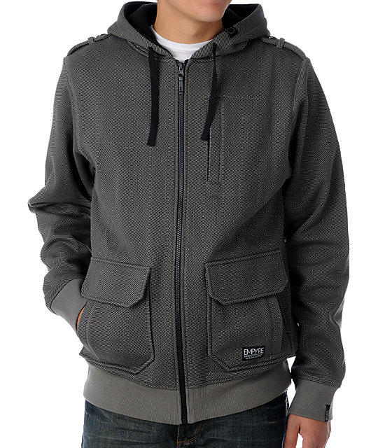 Empyre Obelisk Charcoal Hooded Jacket