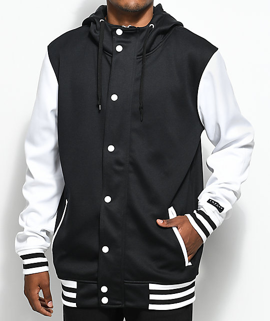 Empyre Offense Black & White Tech Fleece Jacket | Zumiez