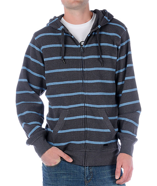 Empyre Old Salt Grey Stripe Hoodie