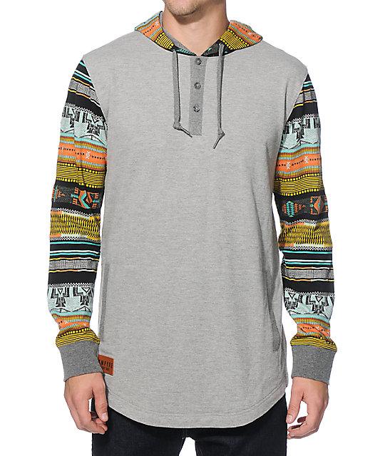 Empyre old town hooded henley shirt zumiez for Whats a henley shirt