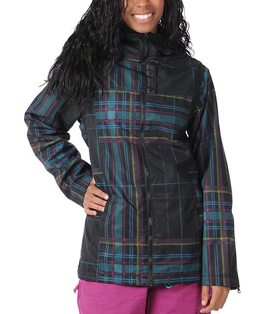 Empyre Open Air Black Plaid 10K Snowboard Jacket