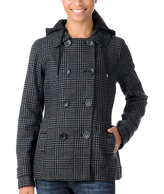 Empyre Origin Charcoal Pea Coat