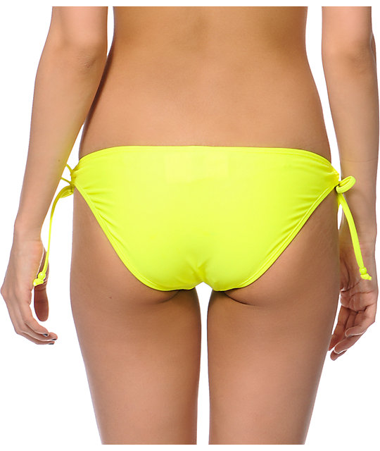 Empyre Oslo Neon Yellow Tunnel Tie Bikini Bottom