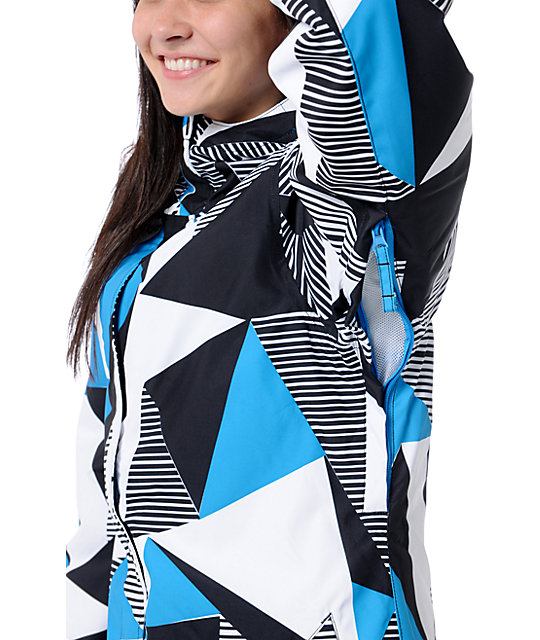 Empyre Palisade 10K Black & Blue Geo Snow Jacket