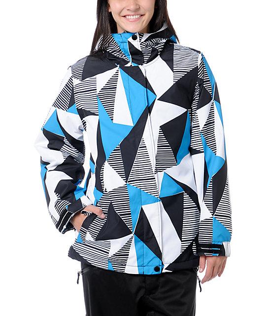 Empyre Palisade 10K Black & Blue Geo Snow Jacket