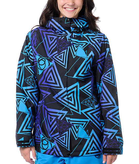 Empyre Palisade 10K Black & Purple Geo Snow Jacket