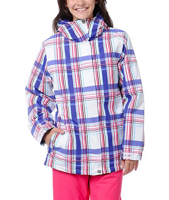 Empyre Palisade White & Purple 10K Snowboard Jacket