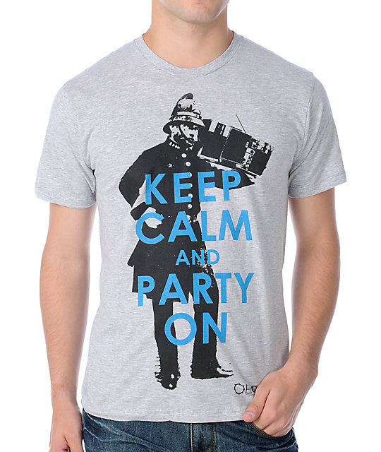 Empyre Party On Mens Heather Grey T-Shirt