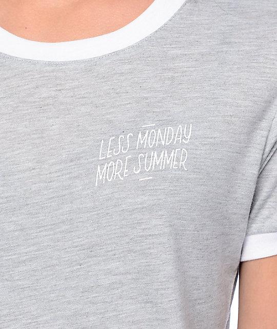 Empyre Paul Less Monday Grey Ringer T-Shirt