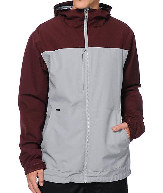 Empyre Paxon 10k Maroon & Grey Snowboard Jacket