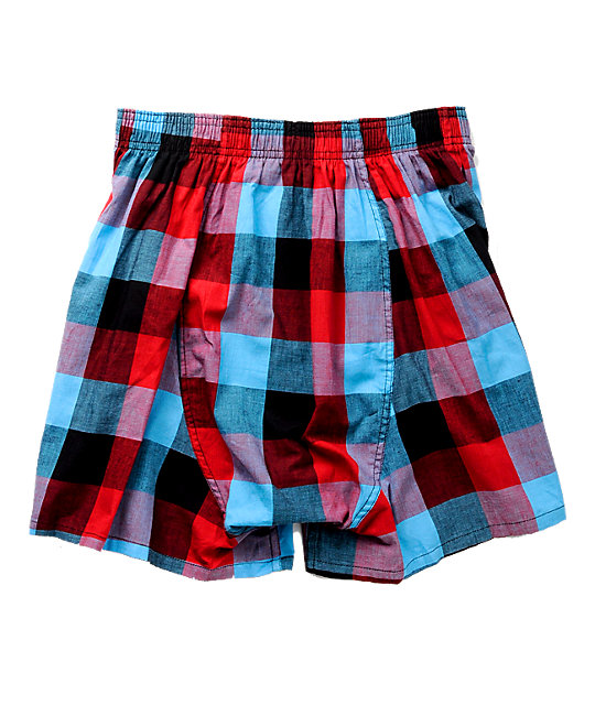 Empyre Penhall Red & Blue Plaid Boxer