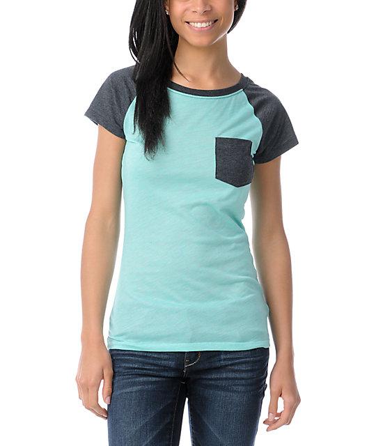 Empyre Petra Bermuda Teal Raglan Sleeve T-Shirt