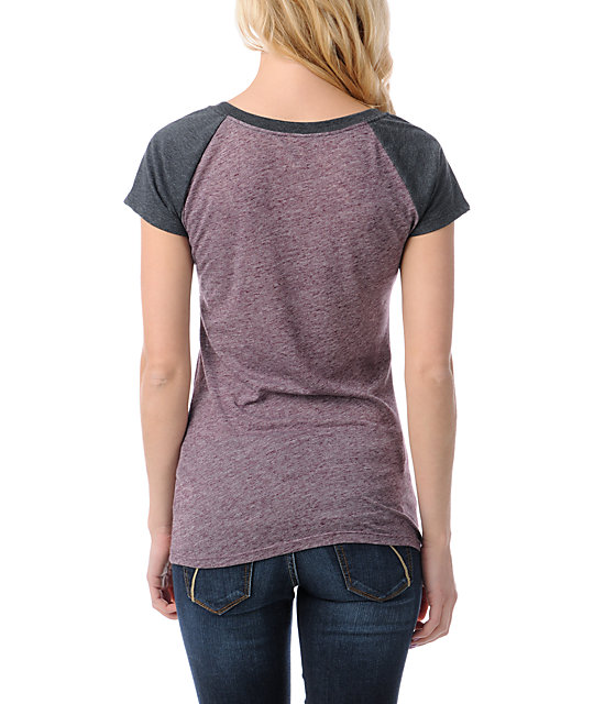 Empyre Petra Blackberry Raglan Sleeve T-Shirt