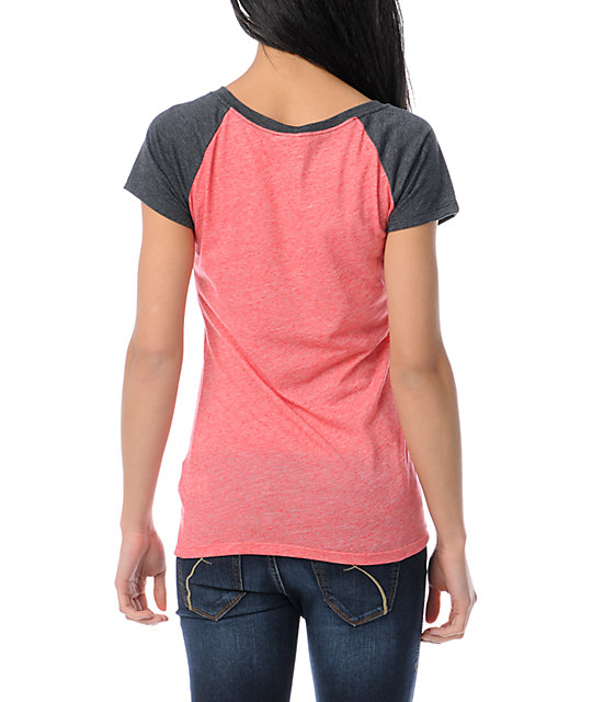 Empyre Petra Fire Red Raglan Sleeve T-Shirt