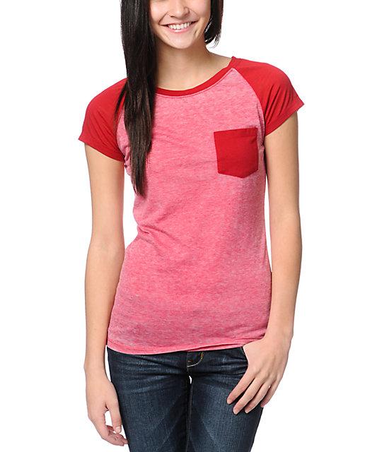 Empyre Petra Jester Red Raglan Sleeve T-Shirt