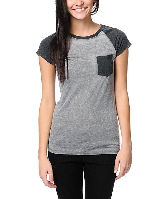 Empyre Petra Nine Iron Grey Raglan Sleeve T-Shirt