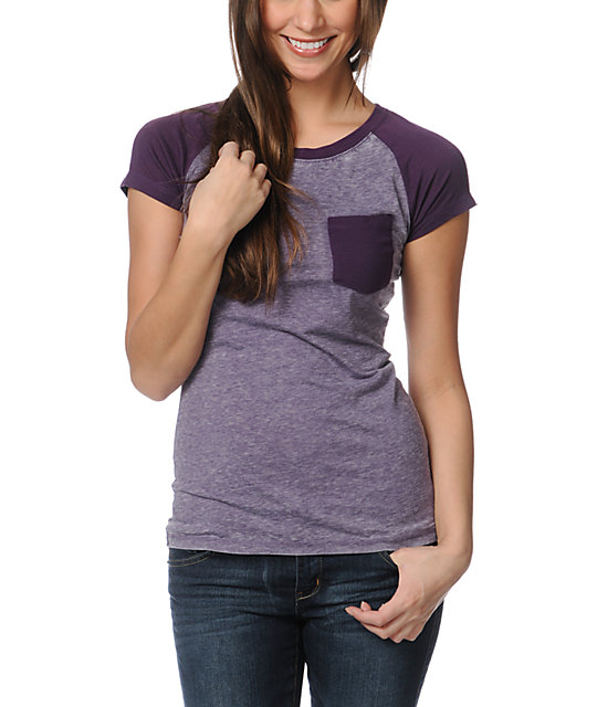 Empyre Petra Purple Pennant Raglan Sleeve T-Shirt