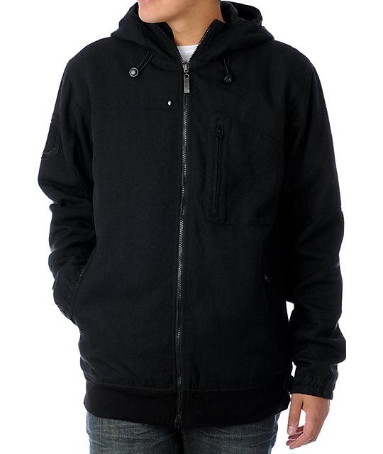 Empyre Phantom Mens Hooded Solid Black Jacket