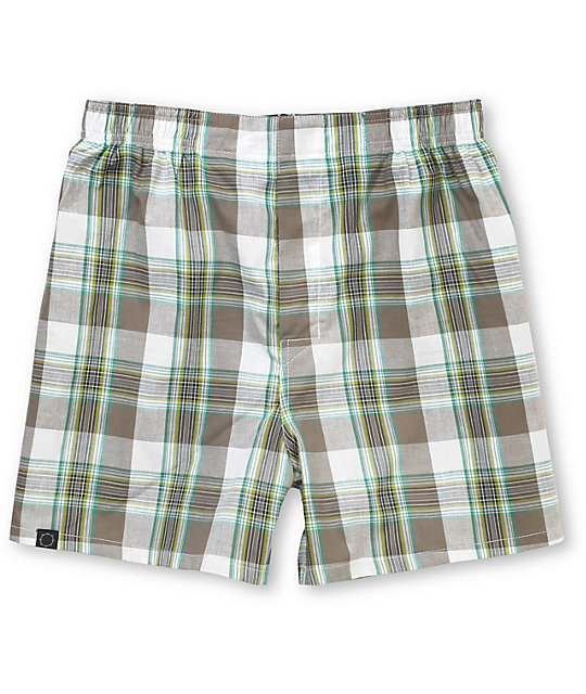 Empyre Picadilly Green & Grey Plaid Boxer