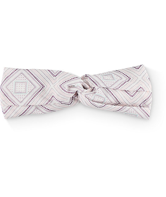 Empyre Pink & Blue Diamond Twist Headband