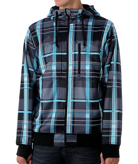 Empyre Pioneer Black & Blue Tech Fleece Jacket