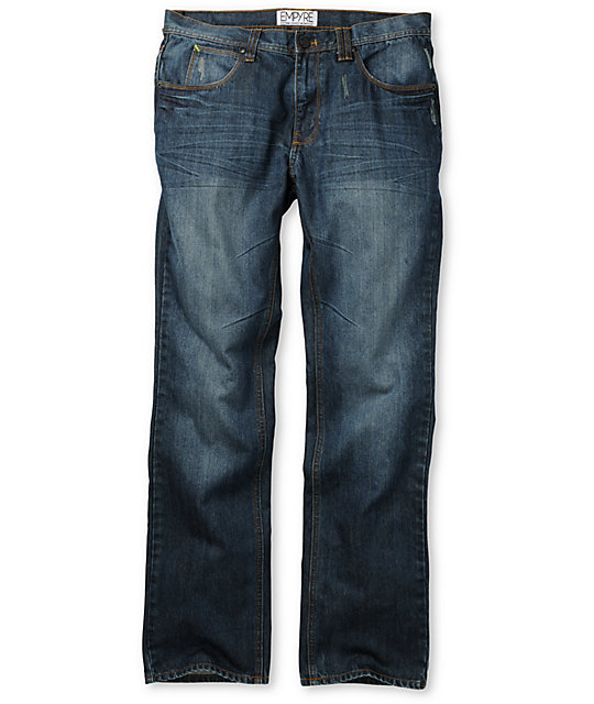 Empyre Pistol Medium Blue Regular Fit Jeans