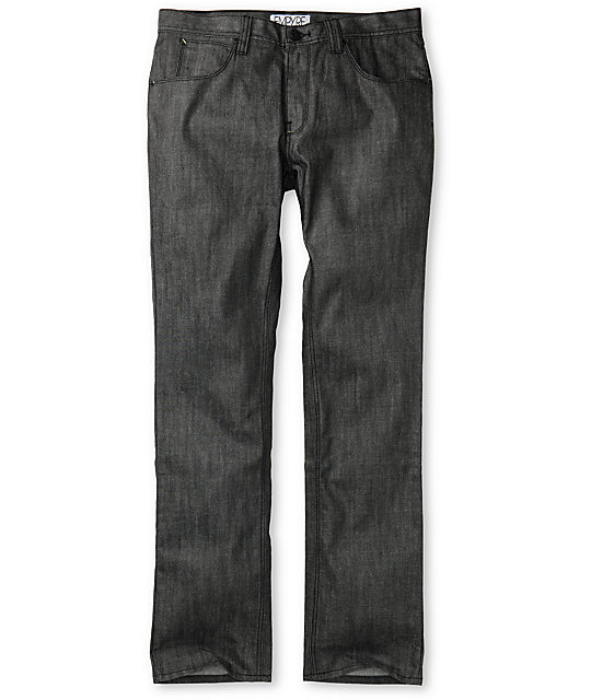 Empyre Pistol Waxed Dark Grey Regular Fit Jeans