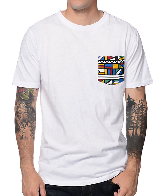Empyre Pocket Party White Pocket T-Shirt