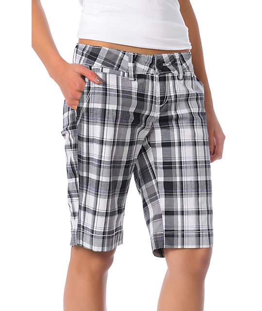 Empyre Premise Black Plaid Shorts
