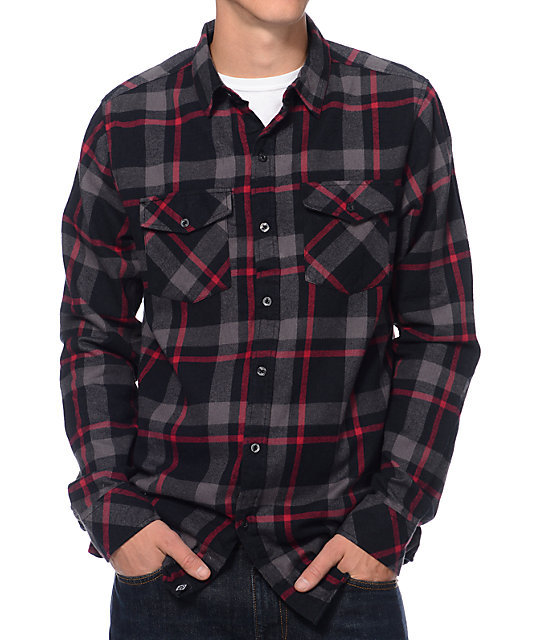 Womens Red And Black Plaid Shirt