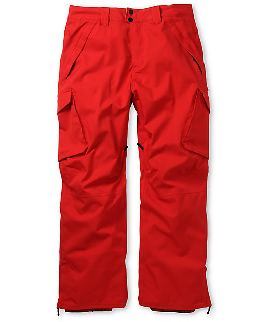 Empyre Protocol Red 10K Cargo Snowboard Pants