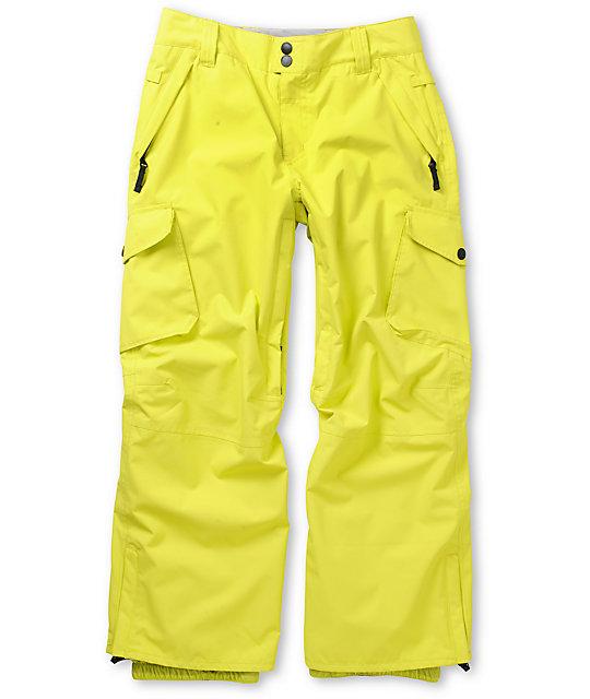 Empyre Protocol Yellow 10K Boys Snowboard Pants 2013