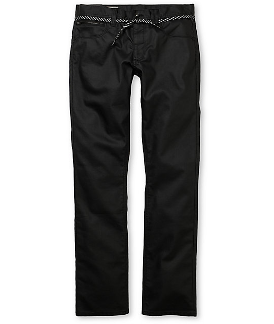 Empyre Punk Rock Paul Resin Black Super Skinny Jeans