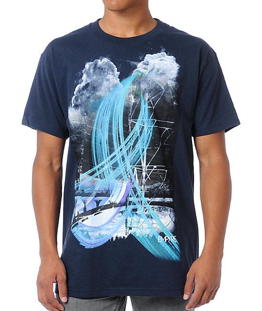 Empyre Rain Matter Navy Blue T-Shirt