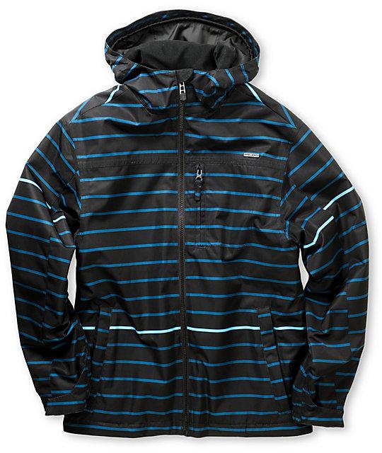 Empyre Ranger Blue Stripe 10K Boys Snowboard Jacket 2013
