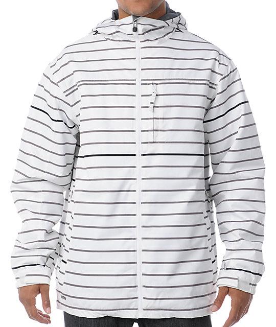 Empyre Ranger White Stripe 10K Snowboard Jacket