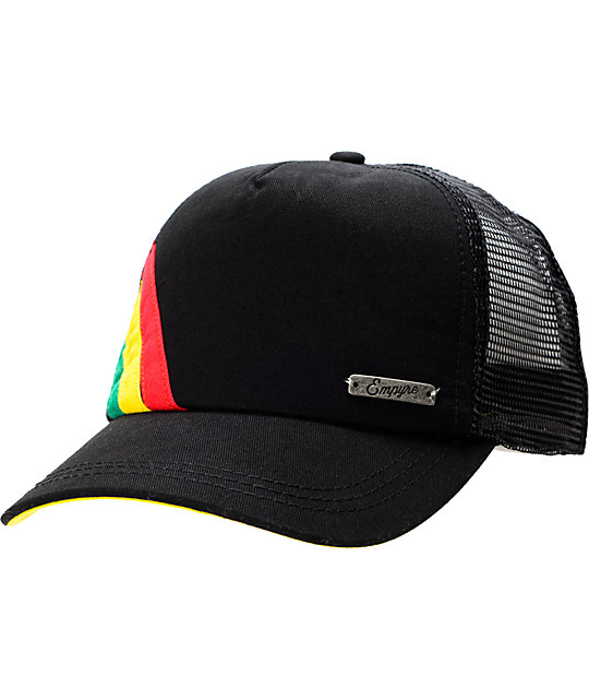 Empyre Rasta Black Trucker Snap Back Hat