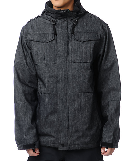 Empyre Recon M-65 Black Denim 10K Snowboard Jacket