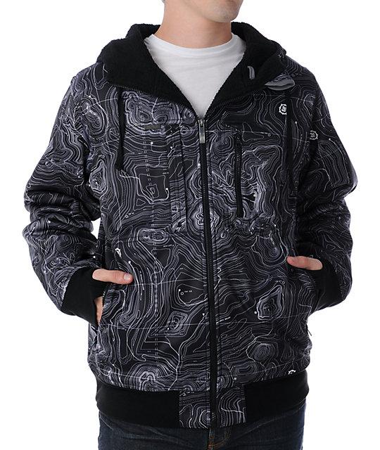 Empyre Recon Topo Black Tech Fleece Jacket