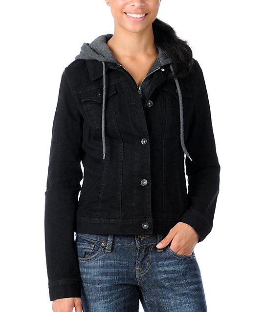 Empyre Resolve Solid Black Jean Jacket