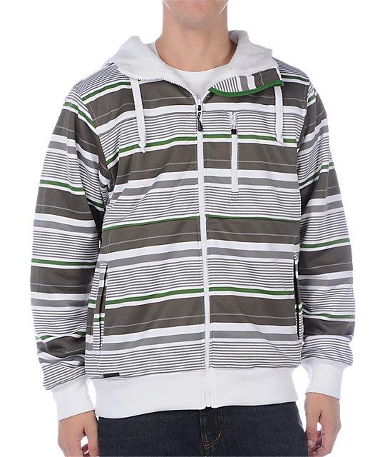Empyre Retaliation Grey Stripe Tech Fleece Jacket